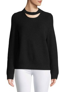 Tori Crew-Neck Cutout Sweater