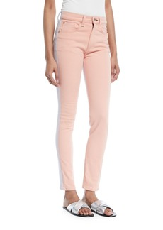 Rag & Bone Two-Tone High-Rise Skinny Jeans