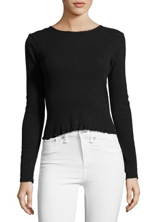 rag & bone/JEAN Tyler Long Sleeve Scoop-Back Top
