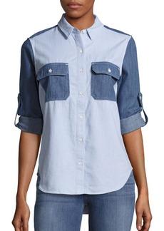 rag & bone/JEAN Utility Colorblock Shirt