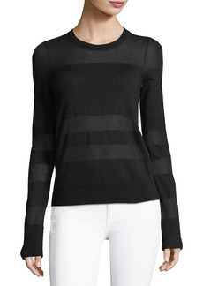rag & bone/JEAN Vivi Crewneck Long-Sleeve Striped Sweater