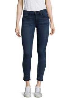 Washed Mid-Rise Skinny Cropped Jeans