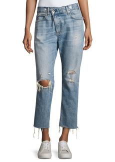 rag & bone/JEAN Wicked Deconstructed Denim Jeans