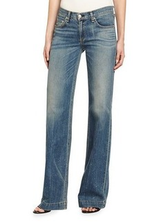 rag & bone/JEAN Wide-Leg Denim Jeans