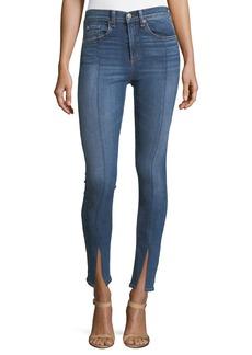 rag & bone/JEAN Yuki High-Rise Skinny Jeans w/ Fuse & Slit
