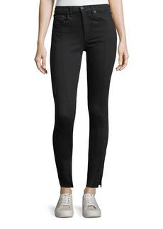 rag & bone/JEAN Yuki High-Rise Skinny jeans w/ Pintuck & Slit