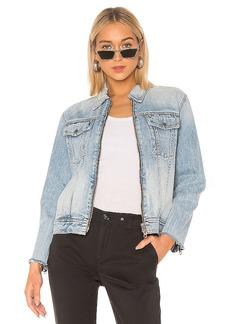 rag & bone/JEAN Zip Oversized Jacket