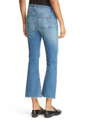 rag & bone/JEANS Distressed High Rise Crop Flare Jeans (Howell With Holes)