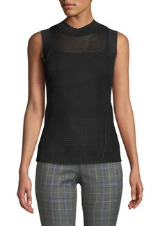 Rag & Bone Raina Slim Ribbed Crewneck Tank Top