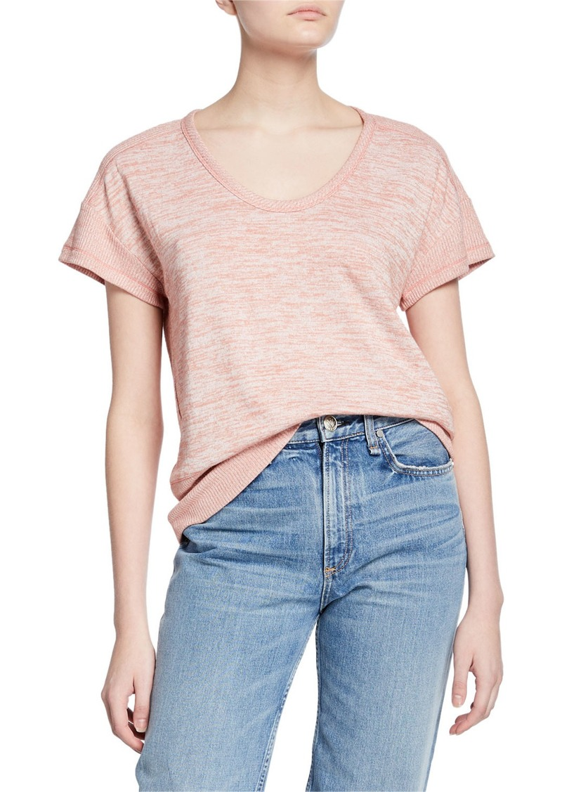 rag & bone Ramona Space-Dyed Short-Sleeve Tee