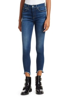 Rag & Bone Raw-Hem Ankle Crop Skinny Jeans