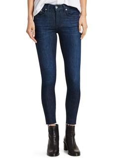 Rag & Bone Raw-Hem Ankle Skinny Jeans
