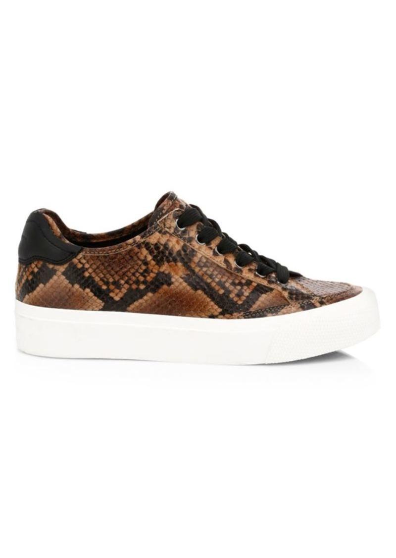 rag & bone RB Army Low-Top Snakeskin-Embossed Leather Sneakers