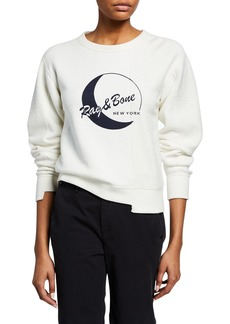 Rag & Bone RB Moon Reconstructed Sweatshirt