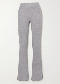 rag & bone Ribbed Melange Stretch-knit Flared Pants
