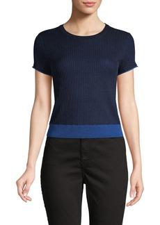 rag & bone Ribbed Short-Sleeve Top