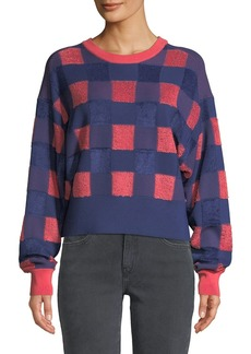 Rag & Bone Ridley Gingham Pullover Sweater