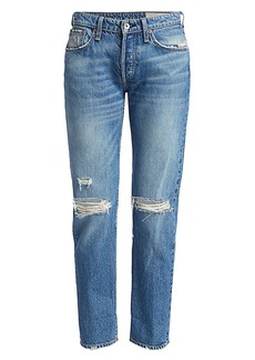 rag & bone Rosa Mid-Rise Distressed Boyfriend Jeans
