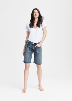 rag & bone Rosa Mid-Rise Walking Short - Clean Black Magic