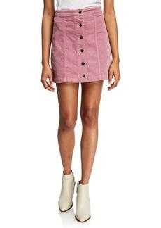 rag & bone Rosie Button-Front Corduroy Skirt