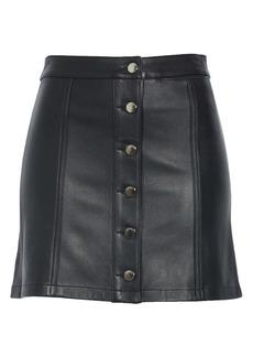 rag & bone Rosie Lambskin Leather Skirt