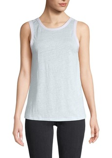 rag & bone Roundneck Linen Tank Top
