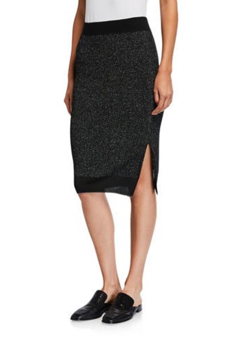 rag & bone Rower Metallic Knit Skirt
