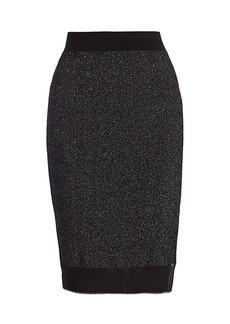 rag & bone Rower Metallic Merino Wool-Blend Skirt