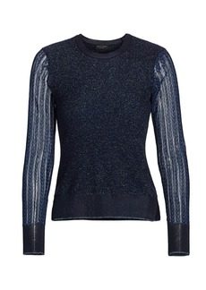 rag & bone Rower Metallic Merino Wool-Blend Sweater