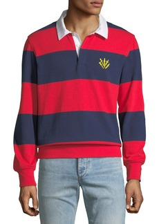Rag & Bone Rugby Polo Shirt with Dagger Embroidery