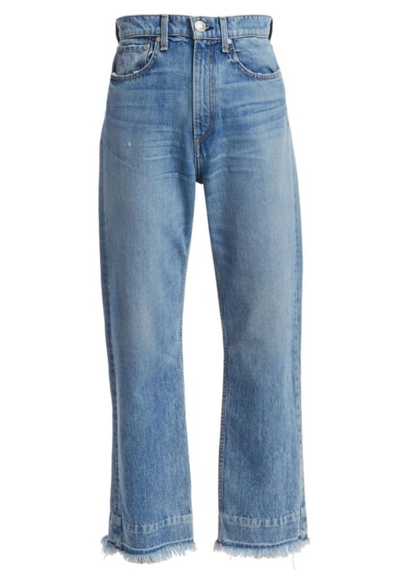rag & bone Ruth Super High-Rise Frayed Hem Jeans