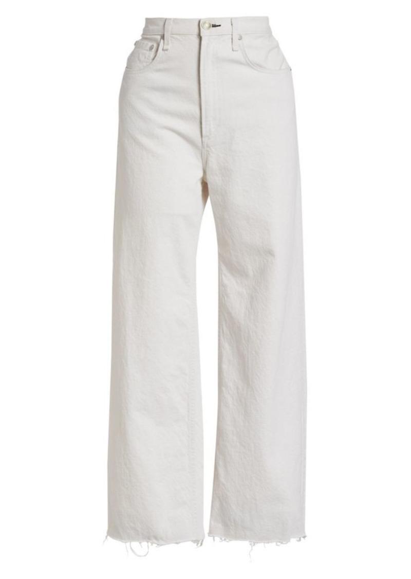 rag & bone Ruth Super High-Rise Wide-Leg Ankle Jeans