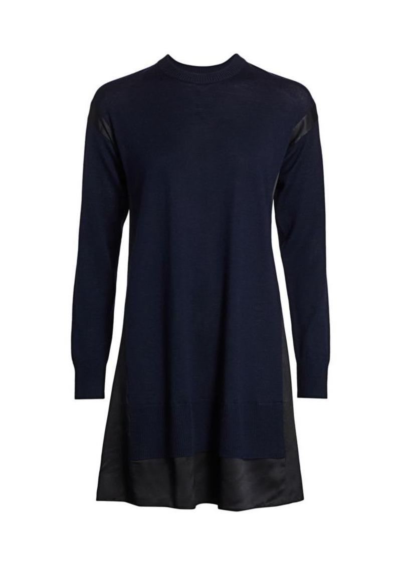 rag & bone Sadie Merino Wool & Silk-Blend Shift Sweater Dress