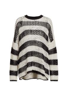 rag & bone Sadie Striped Crewneck Pullover