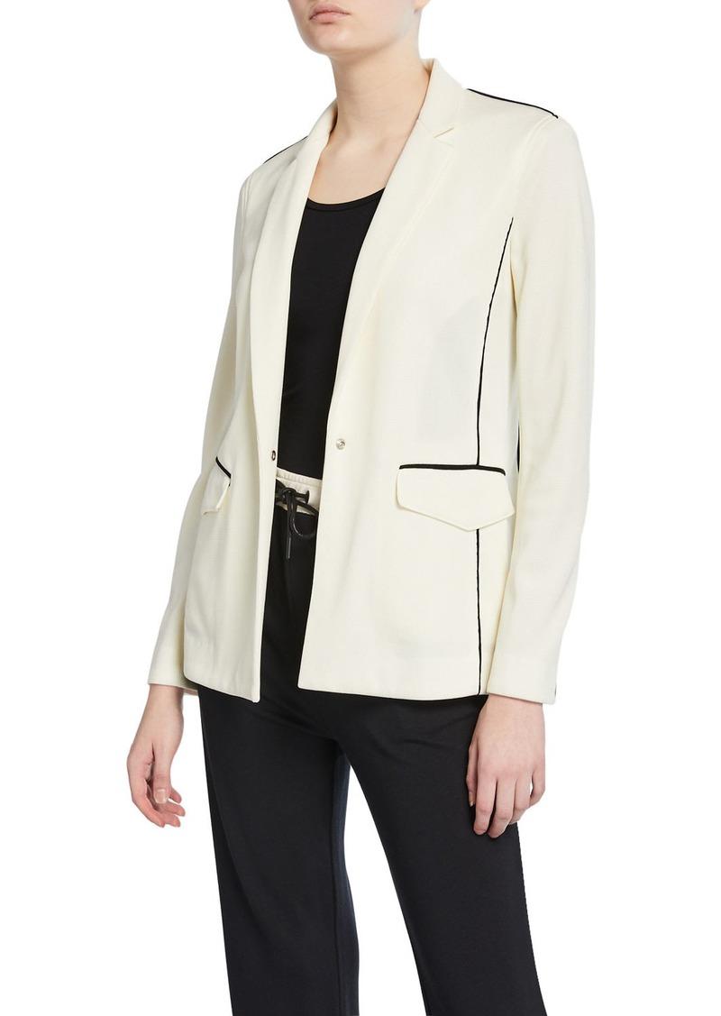 rag & bone Sandrine One-Button Blazer w/ Contrast Piping