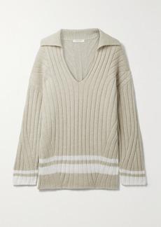rag & bone Serena Striped Ribbed-knit Sweater