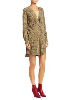 Rag & Bone Shields Silk Print Wrap Dress