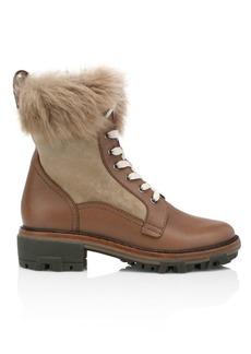 rag & bone Shiloh Lace-Up Lamb Fur-Lined Leather Combat Boots