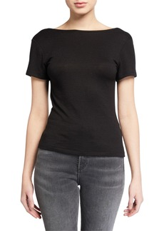 rag & bone Short-Sleeve Wrap Top