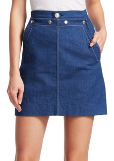 Rag & Bone Sidney Denim Sailor Skirt