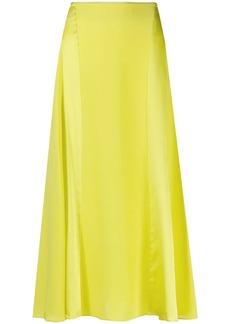 rag & bone silk A-line midi skirt