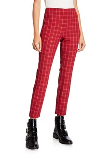 rag & bone Simone Cropped Check Skinny Pants