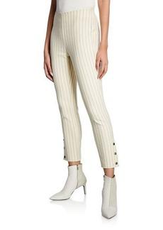 rag & bone Simone Cropped Side-Snap Pants