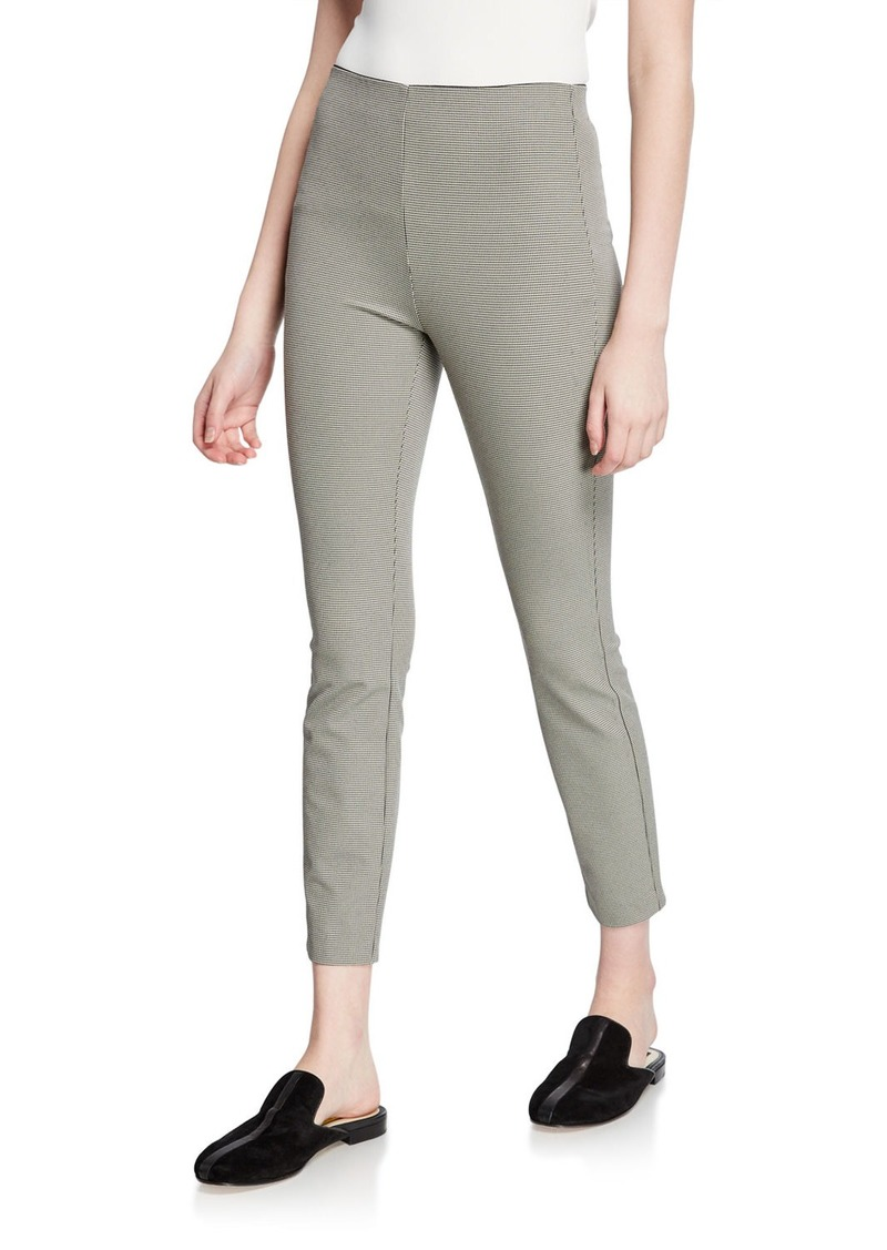 rag & bone Simone Skinny Micro-Check Crop Pants