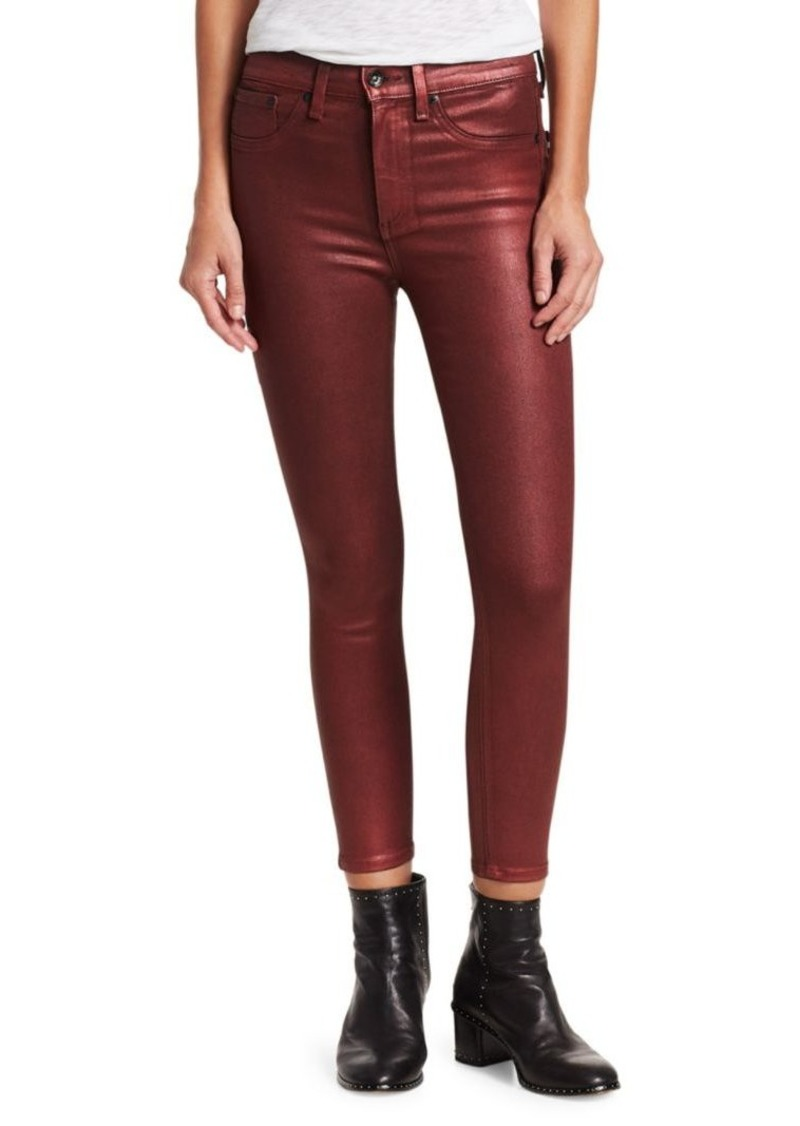 Rag & Bone Skinny High-Rise Coated Jeans