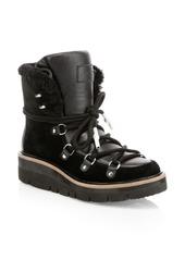 rag & bone Skyler Shearling-Lined Suede Hiking Boots