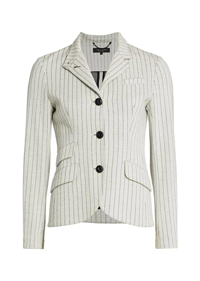 rag & bone Slade Slim Tailor-Fit Pinstripe Blazer