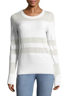 Rag & Bone Slim-Fit Burnout Stripe Sweater