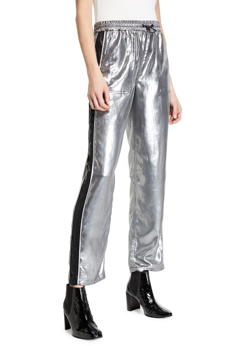 rag & bone Sloane Metallic Side-Stripe Track Pants