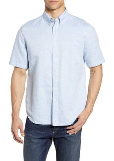 rag & bone Smith Slim Fit Solid Short Sleeve Button-Down Shirt